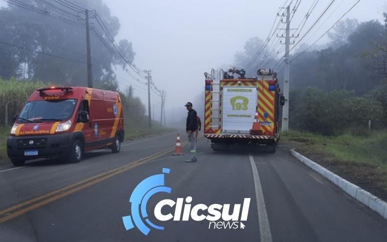 Trabalhador é vítima de atropelamento na PR 364 em São Mateus do Sul