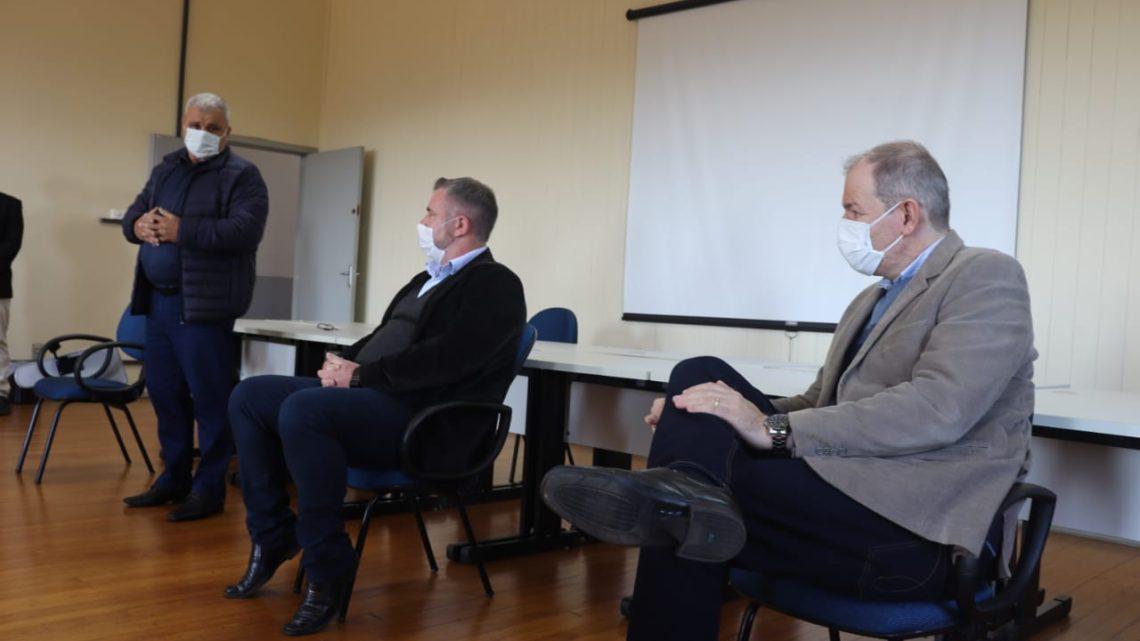 Agenda com Unicentro e lideranças por terreno para construir o IML em Irati