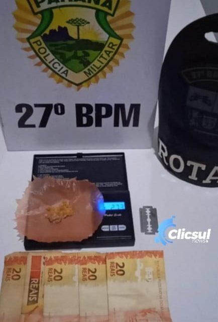 ROTAM apreende menor em posse de drogas na Vila Bom Jesus