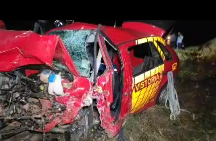 Mulher perde a vida em acidente gravíssimo na BR-280 envolvendo carro dos Bombeiros de União da Vitória