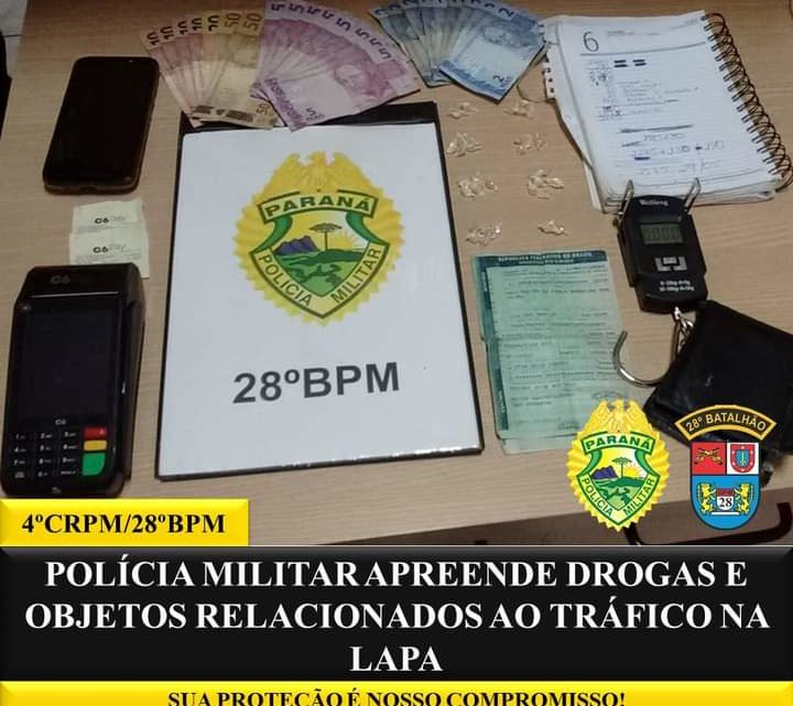 POLÍCIA MILITAR REALIZA APREENSÃO DE DROGAS, OBJETOS RELACIONADOS AO TRÁFICO, E APREENDE MOTOCICLETA COM SINAL IDENTIFICADOR ADULTERADO