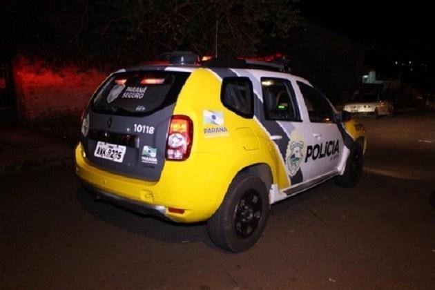 Polícia Militar de Antônio Olinto atende ocorrência de roubo a mão armada a caminhoneiro