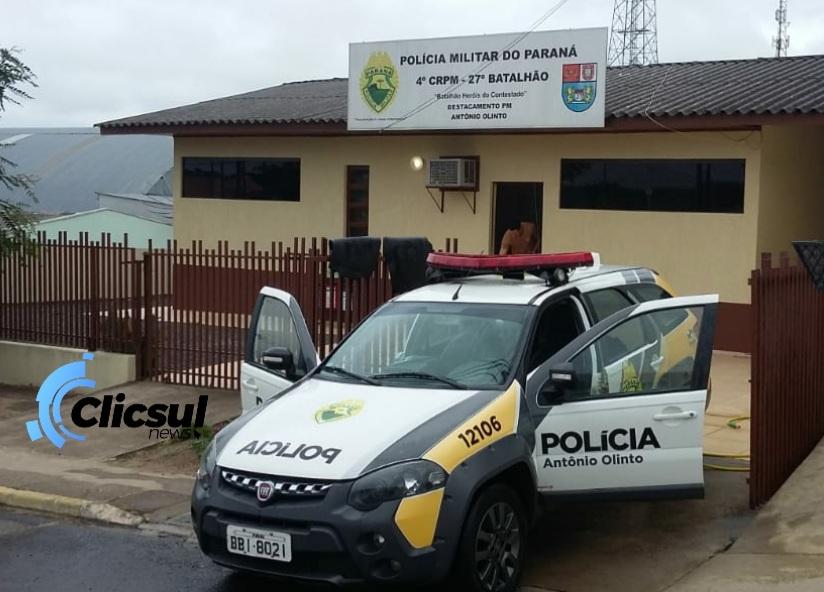 Veiculo é recolhido ao pátio da PM de Antônio Olinto por irregularidades