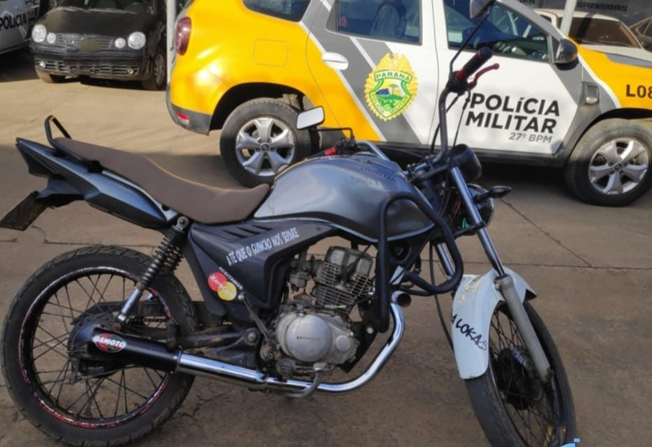 Polícia Militar recupera motocicleta furtada e prende condutor