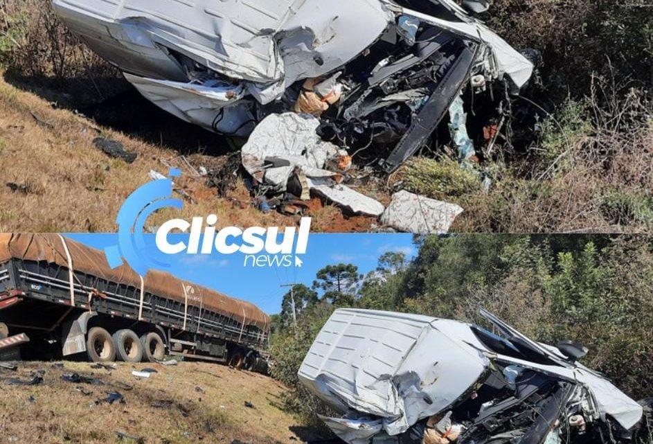 Bombeiros e PRE atendem a acidente grave na PR 151 em São Mateus do Sul