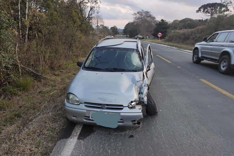 PRF atende acidente com óbito na BR 153, em Rebouças