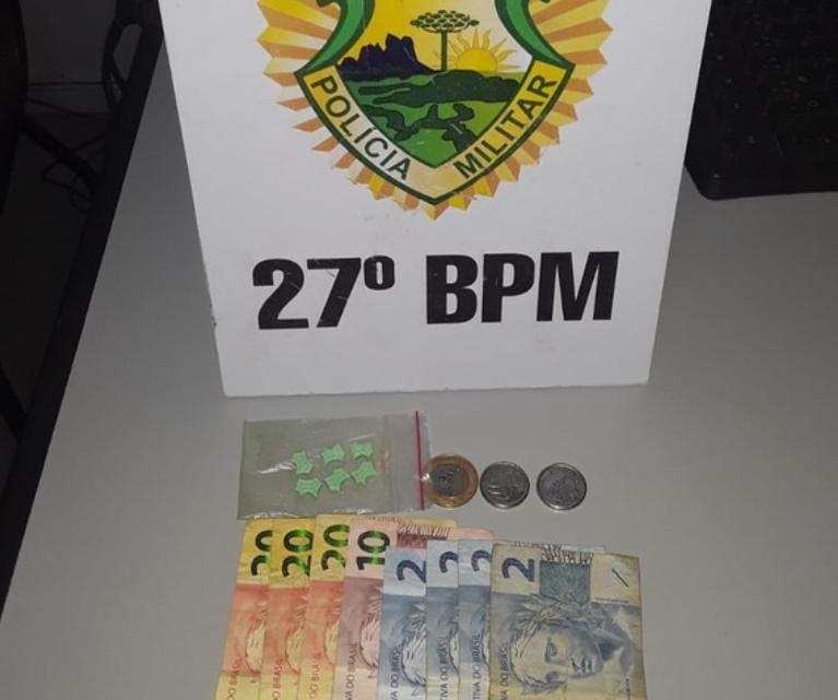 ROTAM aborda rapazes em posse de comprimidos de ecstasy em São Mateus do Sul
